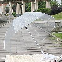 AHGAHG 4PCS Clear Rain Umbrellas Dome Birdcage Transparent PVC Plastic Wedding