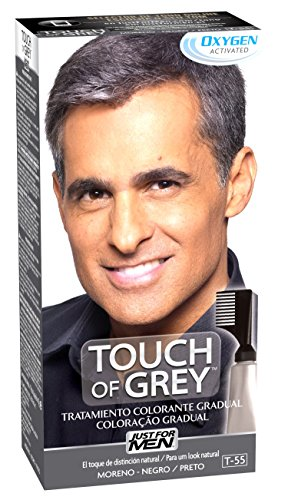 Just For Men, Touch of Grey, Tinte Pelo Reductor de Canas para Hombres, Reduce parcialmente las Canas...