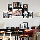 #6: Painting Mantra Memory Wall Photo Frame Set (27 inch x 44 inch, Black, Set of 11)