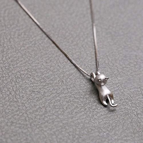 Orecchino collana mini climbers lucky gattino shining della clavicola collana ciondoli gioielli small silver