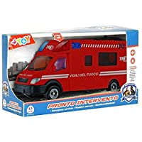 GLB Large Light & Sound Fire Engine Emergency Van, Kids Emergency Toy Vehicle Fire Truck, Flashing Lights and Sounds