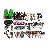 SODIAL 147pzs Juego de broca mini herramienta rotativa de taladro y apto Dremel Juegos de herramientas de pulido, tallado, pulido, cabeza de amoladora