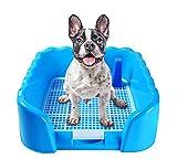 Kicat® Toilette per Cani con gabinetto Toilette per Cani con Grande Vaso Ondulato, 42 * 41 * 15 cm (Blu)