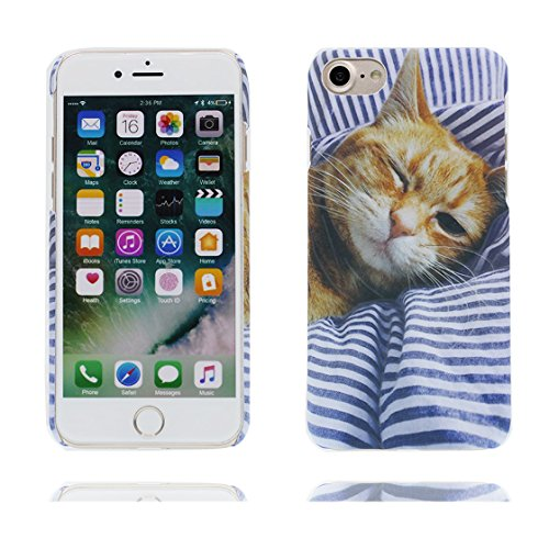 Custodia iPhone 6 Plus, iPhone 6s Plus copertura case in silicone TPU leggero sottile adatto Cover per iPhone 6S Plus / 6 Plus 5.5 Inch- gatto Cat bianca gatto Cat Stripe