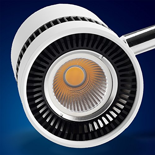 Mextronic 8W Tageslicht weiss led 3 phasen strahler für Schienensystem Schienen Strahler Schienen Leuchte - 2
