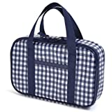 Kids sewing bag rated on style N2304200 made by Nippon dark blue large check (only bag) (japan import)