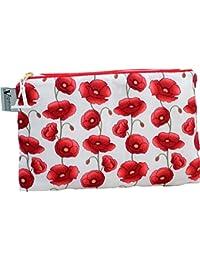 Vagabond Bags Bolsa de aseo, Floral Rojo (rojo) - 2119