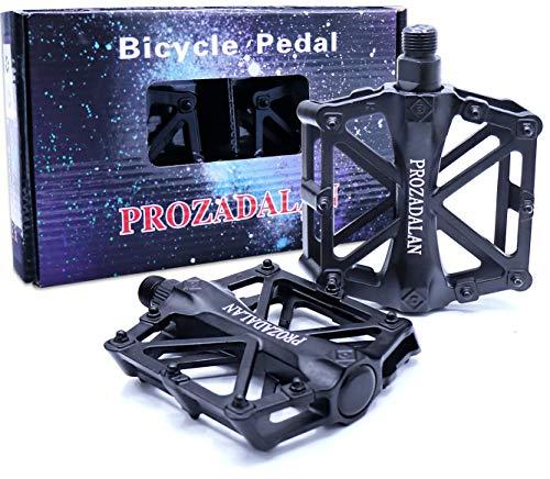 PROZADALAN Fahrradpedale, Fahrrad Pedalen 9/16 Zoll Achse CNC Aluminium Alu Mit Abgedichtete rutschfest für Uni (1)