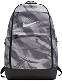 35602937bca NIKE Brasilia All Over Print Backpack, Atmosphere Grey/Black/White, X-