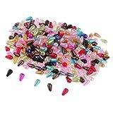 non-brand 300 Unidades Cuentas de Plástico de Forma Gota Perlas de Artificiales de Color DIY Manualidades Accesorios