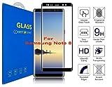 Samsung Galaxy Note 8 Schutzfolie [3D gebogen Full Deckung] - 3D Curved Kante zu Kante gehärtetem Glas Displayschutzfolie mit 9H Härte für Samsung Galaxy Note 8 / Samsung Galaxy Note 8 Duos (Schwarz)