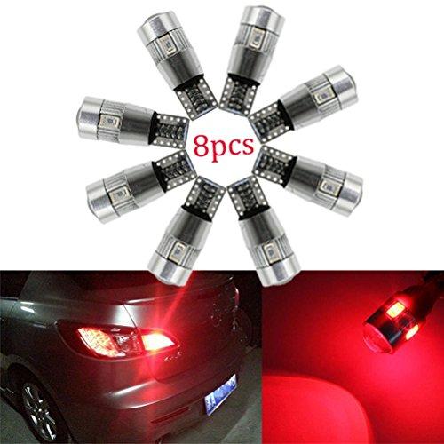 Ralbay 8X Auto Keilförmig Glühlampe T10 501 194 5630 LED 6SMD Standlicht Lampe Innenbeleuchtung Rote - Konvexe Leuchte