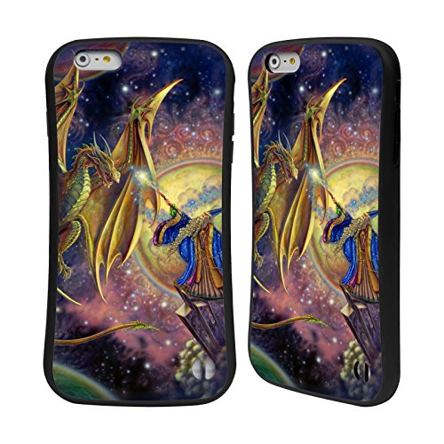 Ufficiale Myles Pinkney Drago 4 Fantasy Case Ibrida per Apple iPhone 5 / 5s / SE Magia