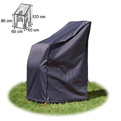 Housse/Bâche de protection de qualité supérieure pour chaises de jardin empilables 65 x 65 x 120 / 80 cm de