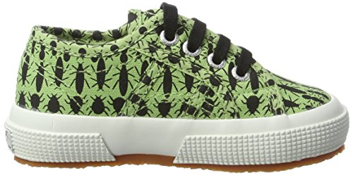 Superga Unisex-Kinder 2750 Fantasy Cotj Sneaker Mehrfarbig (Insects Green)