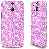 Premium Hülle für das HTC One M8, Hardcase aus recyceltem PET mit Designer Motiv - ''Pink French Lillies'' von caseable