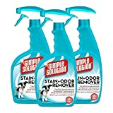 3 x Simple Solution Stain & Odour Remover Spray 945ml - Unique Pro-Bacteria Formula Removes Stubborn Pet Stains & Odours - Helps Prevent-Re-Marking- Great for carpets, furniture upholstery, bedding, and other water-safe surfaces.