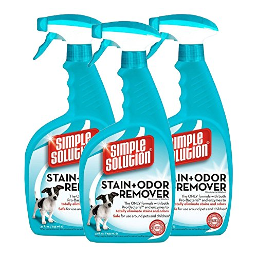 Coupon Matrix - 3 x Simple Solution Stain & Odour Remover Spray 945ml - Unique Pro-Bacteria Formula Removes Stubborn Pet Stains & Odours - Helps Prevent-Re-Marking- Great for carpets, furniture upholstery, bedding, and other water-safe surfaces.