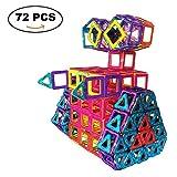 SUPRBIRD 72 PCS Magnetische Bauklötze Set, Magnet Bausteine Konstruktion Blöcke DIY 3D Pädagogische Spielzeug Geburtstag Kindertag Geschenk für Kinder Kleinkind