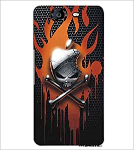 MICROMAX A350 CANVAS KNIGHT SKULL Designer Back Cover Case By PRINTSWAG
