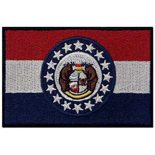 Missouri State Flagge gesticktes Abzeichen Eisen auf Sew auf MO Patch -