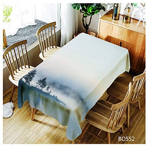 Moderner Ausziehbarer Esstisch (QWEASDZX Tischdecke Polyester Digitaldruck Ölbeständig und wasserdicht Küchentischdecke Waschbare Antifouling-Tischdecke Geeignet für den Innen- und Außenbereich 150x260cm)