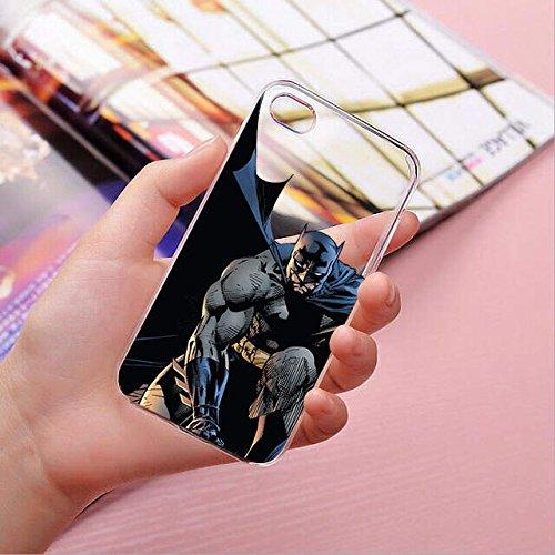finoo | iPhone 8 Handy-Tasche Schutzhülle | ultra leichte transparente Handyhülle in harter Ausführung | kratzfeste stylische Hard Schale mit Motiv Cover Case |Logo become bat Batman Comic Close Up