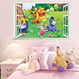 Smart Art Disney Winnie The Pooh Wall Stickers Wall Decals Wanddekorationen Tapete zum Schlafzimmer zu Hause