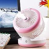 L@LILI Mini Refroidisseur d'air Portable, humidificateur de Bureau air Cooler dortoir Mini USB Ventilateur Petit Bureau Ventilateur sans Lame Silencieux électronique Portable,C