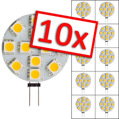 SEBSON LED Lampe G4 warmweiß 3W (2.5W), ersetzt 20W Glühlampe, 200lm, GU4 LED Stiftsockel 12V DC, Leuchtmittel 110°