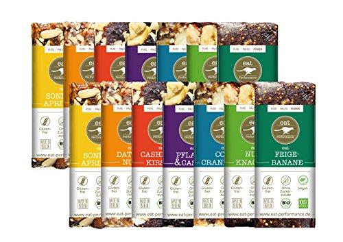 Energie Riegel BigBox (14x 40g) von eat Performance (Vegan, Bio, Paleo, Müsliriegel ohne Zucker und Getreide, glutenfrei, laktosefrei, superfood)
