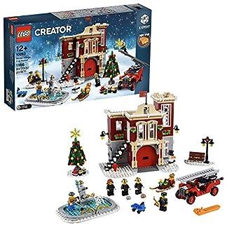 LEGO Creator Expert-Parque de bomberos navideño, divertido juguete de construcción con edificio (10263)
