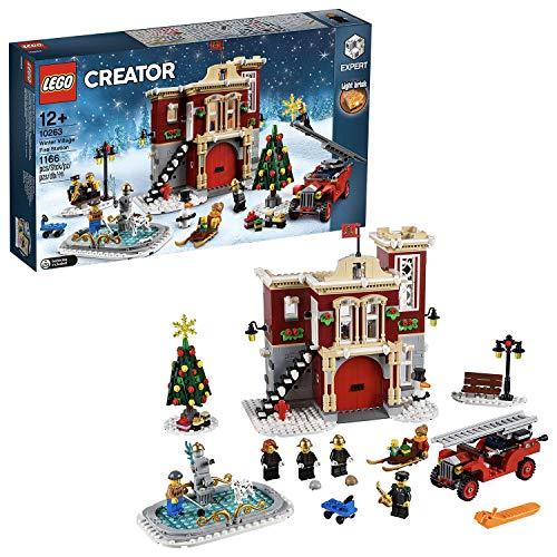 LEGO 10263 Creator Expert Winter Village Fire Station, Jouets d'incendie pour Enfants