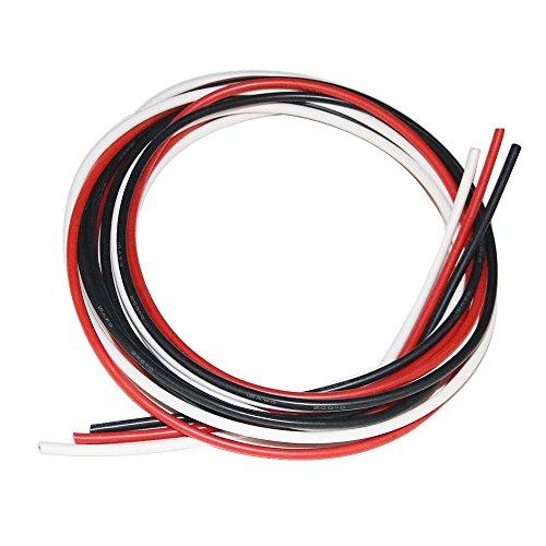 bntechgo 16Gauge Silikon Draht High Temperature Resistant Weich und flexibel 16AWG Silikon Draht 252Stränge aus verzinntes Kupfer Draht (Erdungskabel 8 Gauge)