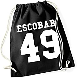 Escobar 49 Bolsa De Gym Negro Certified Freak