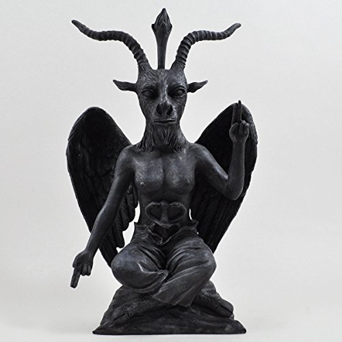 Deko-Skulptur Buddha Baphomet, schwarzer Dämon/Teufel aus Polyresin-Kunstharz, 21 cm hoch