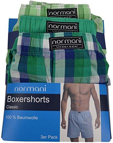 3 x Boxershorts aus reiner Baumwolle original normani® Exclusive Grün