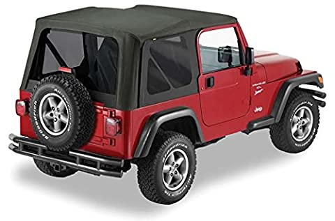 Pavement Ends by Bestop 51148-15 Black Denim Replay Replacement Soft Top Tinted Windows-No door skins included-No frame hardware included- 1997-2002 Jeep Wrangler by Pavement Ends