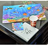#5: Kuber Industries™ Dining Table Kitchen Placemats Set of 6 Pcs 3D Design (Assorted Colors) Dimension-45*30 Cm (Code-K019)