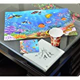 Kuber Industries™ Dining Table Kitchen Placemats Set Of 6 Pcs 3D Design (Assorted Colors) Dimension-45*30 Cm (Code-K019)