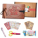 Our Adventure MOMKEY, Book Album up, Libro Aventuras Up, Álbum de Fotos de Madera Artificial (80 Páginas) - Regalo Ideal para el Día de San Valentín, Navidad, Aniversario, Cumpleaños y Aniversario.