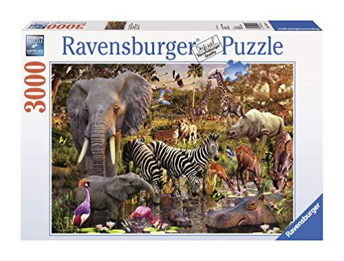 Ravensburger 17037 Mondo africano- Puzzle da 3.000 pezzi