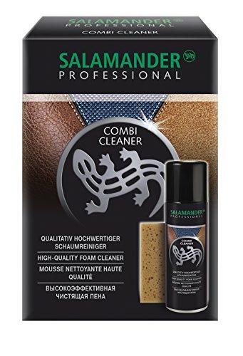 Salamander Combi Cleaner - hochwertiger Schaumreiniger (200 ml Set mit Schwamm, Farblos (Neutral)) (Leder-schuh-reiniger)