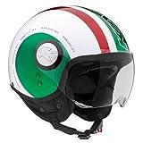 DEMI-JET HELM KV8 Italien-Flagge TG M NEW '2014