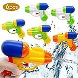 SPECOOL 6Pcs Pistola ad Acqua Water Pistol per Ragazzi e Ragazze Grembiulini per Festa Estiva all'aperto Spiaggia della Piscina Bomboniere
