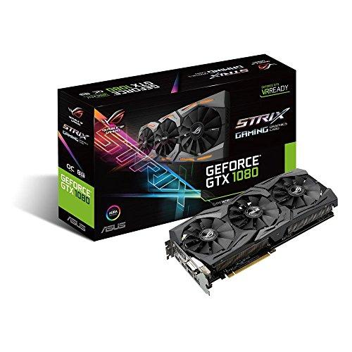 ASUS ROG GeForce GTX 1080 8 GB Strix OC Edition Grafikkarte Strix GTX1080-8G-GAMING Base Clock 1607 MHz