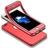 Für iPhone 7 Plus / iPhone 8 Plus Hülle + Panzerglas, HICASER 360 Grad Komplettschutz Vorder und Rückseiten Schutz Schale Ganzkörper-Koffer Soft TPU Schutzhülle für iPhone 7 Plus / iPhone 8 Plus 5.5