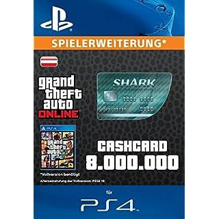 Grand Theft Auto Online   GTA V Megalodon Shark Cash Card   8,000,000 GTA-Dollars   PS4 Download Code - österreichisches Konto