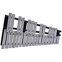 ammoon Xilofono Pieghevole 30 Nota Glockenspiel Cornice di Legno Barre in Alluminio Regalo per Strumenti Musicali a Percussione con il Sacchetto di Trasporto