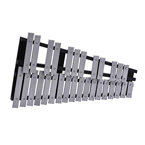 ammoon Glockenspiel Faltbar 30 Hinweis Xylophon Holzrahmen Aluminium Bars Pädagogisches Percussion Musikinstrument Geschenk mit Tragetasche